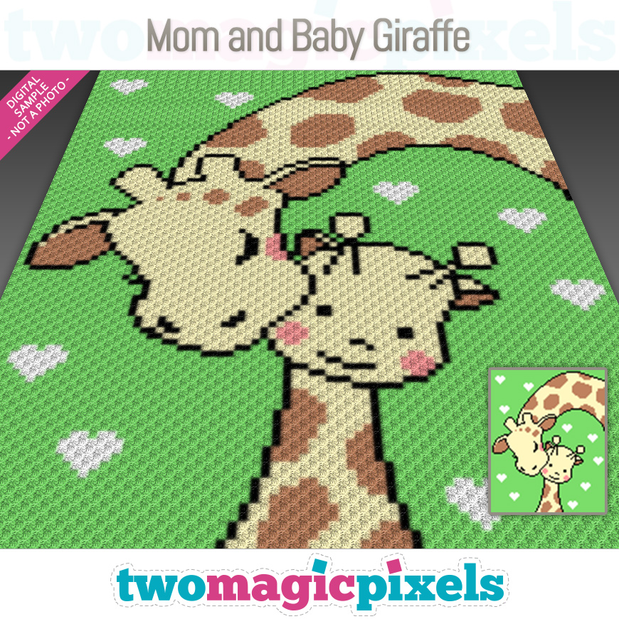 Mom and Baby Giraffe by Two Magic Pixels