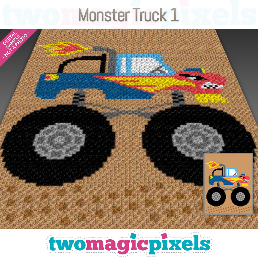 Monster Truck 1 by Two Magic Pixels