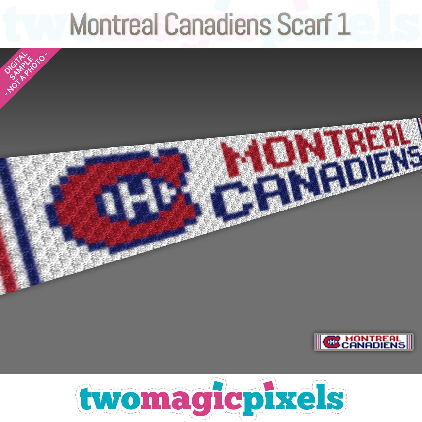 Montreal Canadiens Scarf 1 by Two Magic Pixels