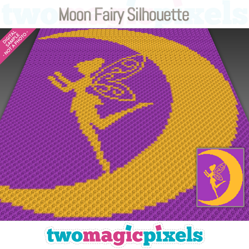 Moon Fairy Silhouette by Two Magic Pixels