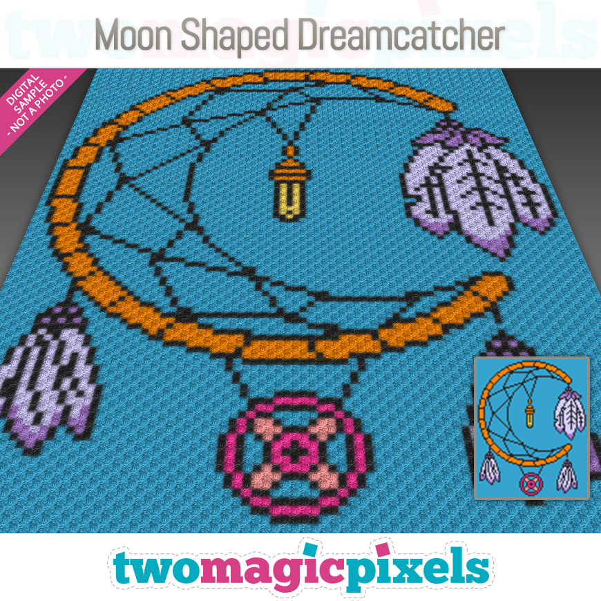 Moon Shaped Dreamcatcher by Two Magic Pixels