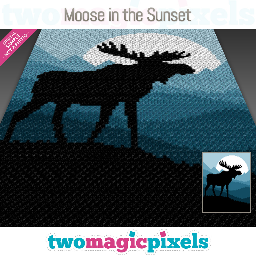 Moose in the Sunset by Two Magic Pixels