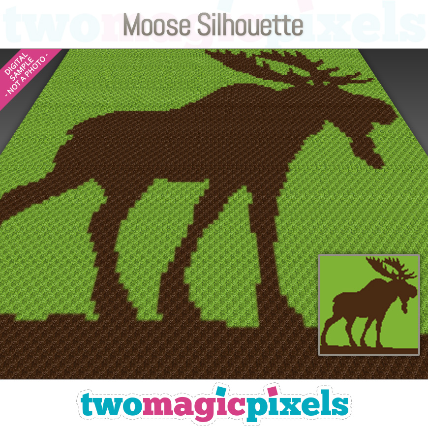 Moose Silhouette by Two Magic Pixels
