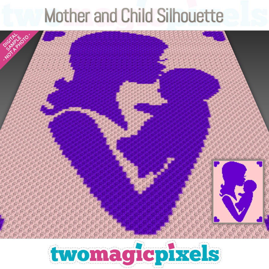 Mother and Child Silhouette by Two Magic Pixels
