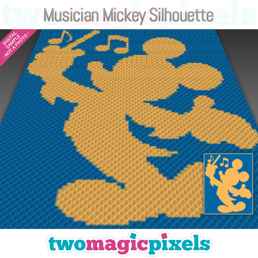 Musician Mickey Silhouette by Two Magic Pixels