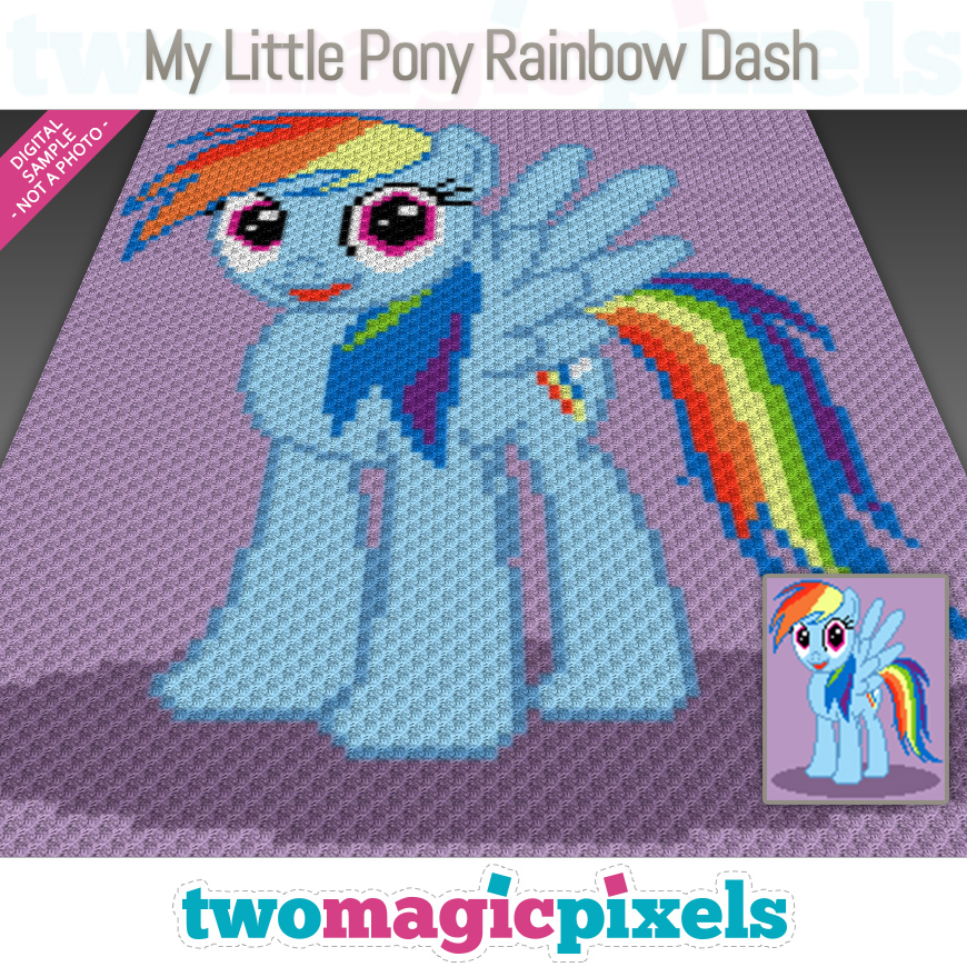 My Little Pony Rainbow Dash by Two Magic Pixels