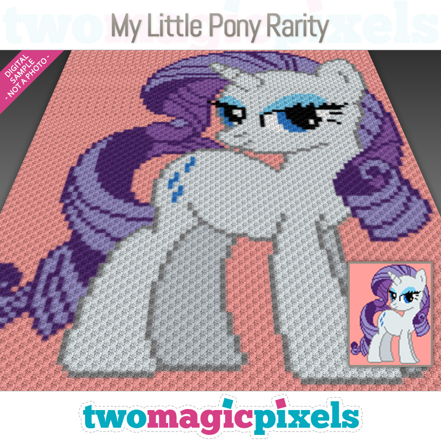 My Little Pony Rarity by Two Magic Pixels