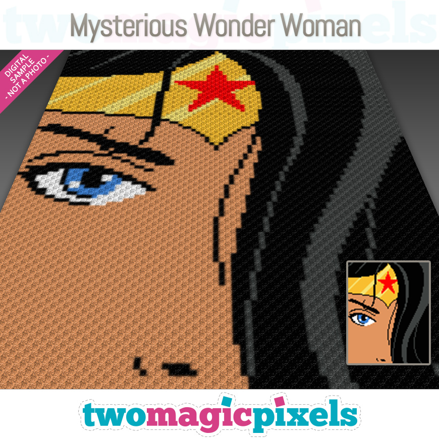 Mysterious Wonder Woman by Two Magic Pixels