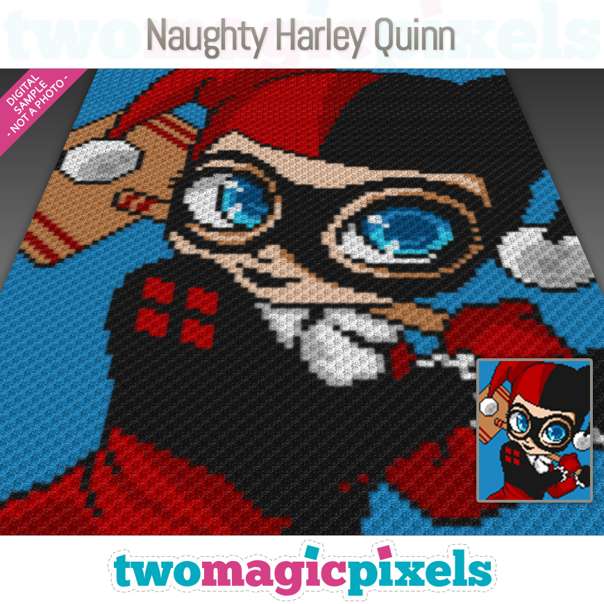 Naughty Harley Quinn by Two Magic Pixels