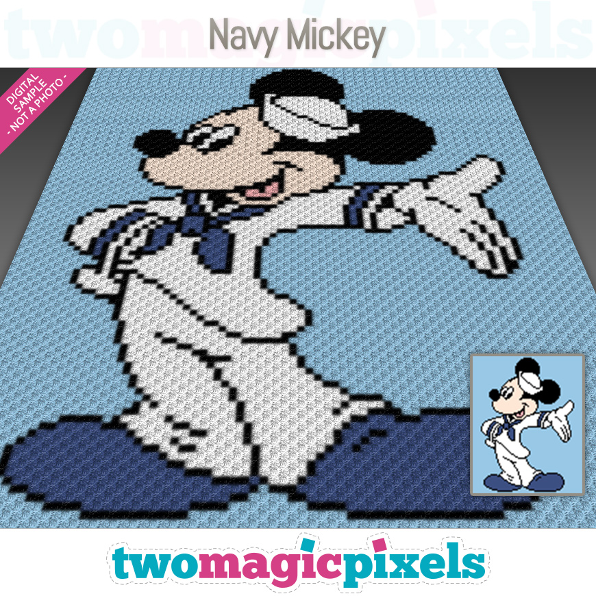 Navy Mickey by Two Magic Pixels