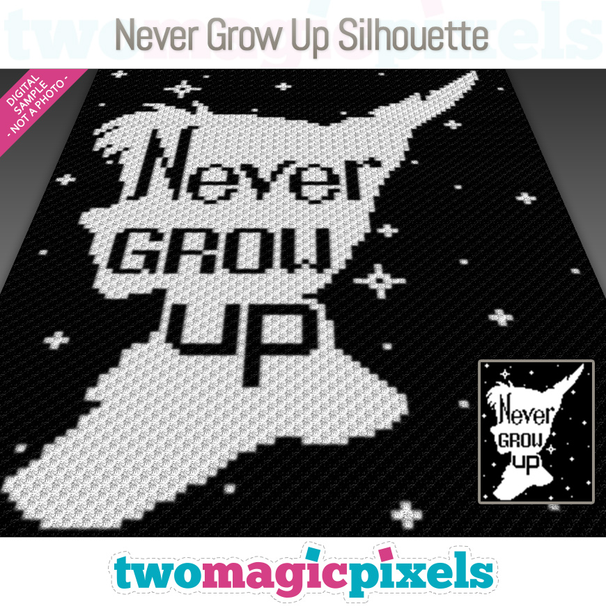 Never Grow Up Silhouette by Two Magic Pixels