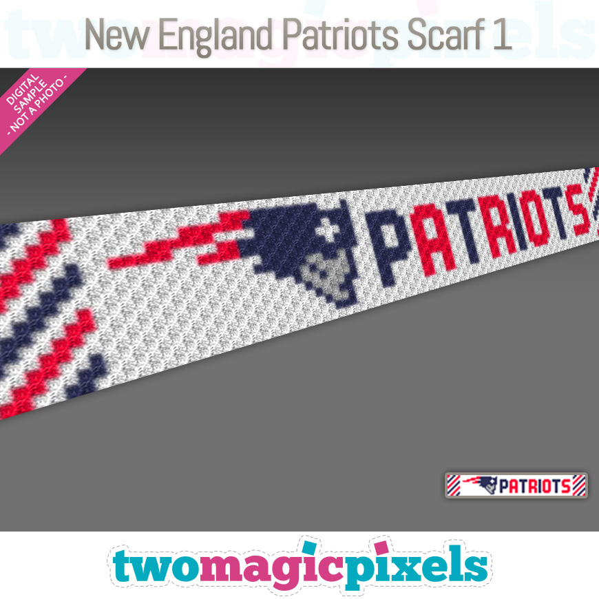 New England Patriots Scarf 1 by Two Magic Pixels