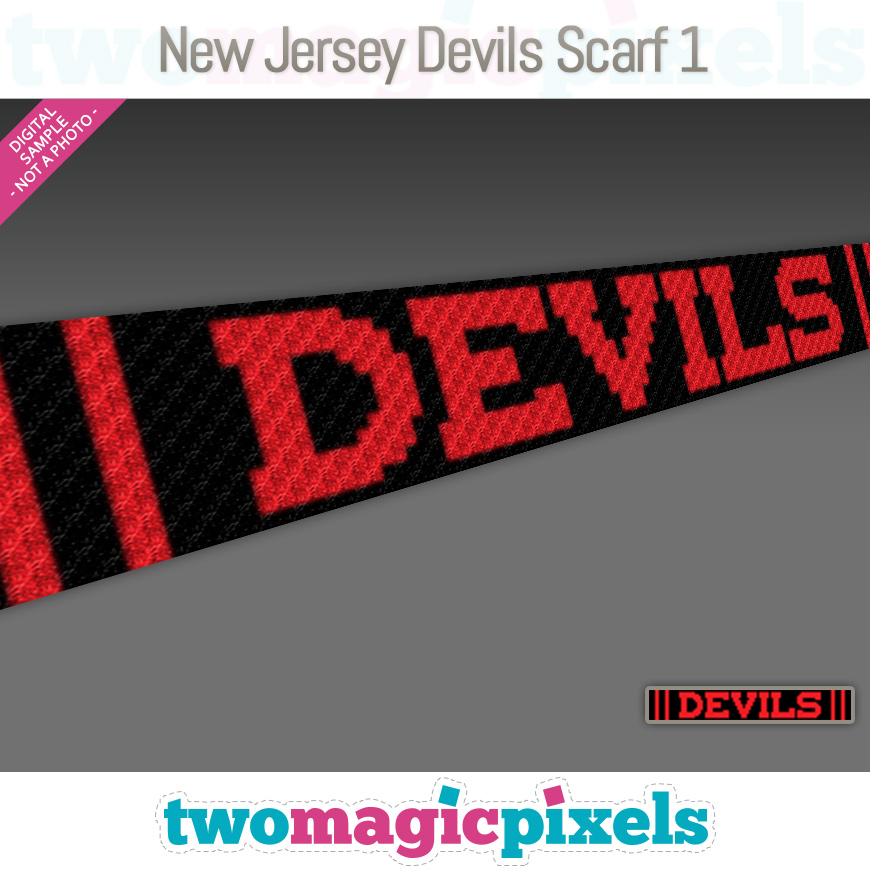 New Jersey Devils Scarf 1 by Two Magic Pixels