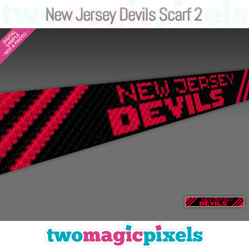 New Jersey Devils Scarf 2 by Two Magic Pixels