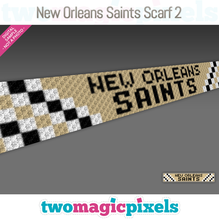 New Orleans Saints Scarf 2 by Two Magic Pixels