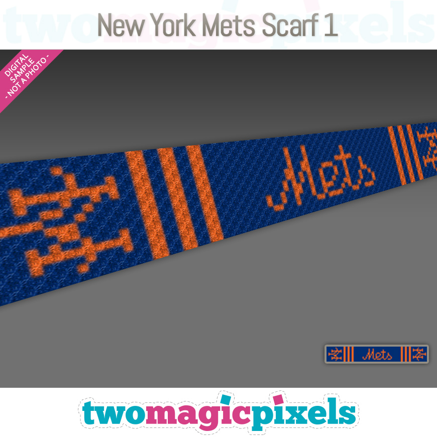 New York Mets Scarf 1 by Two Magic Pixels