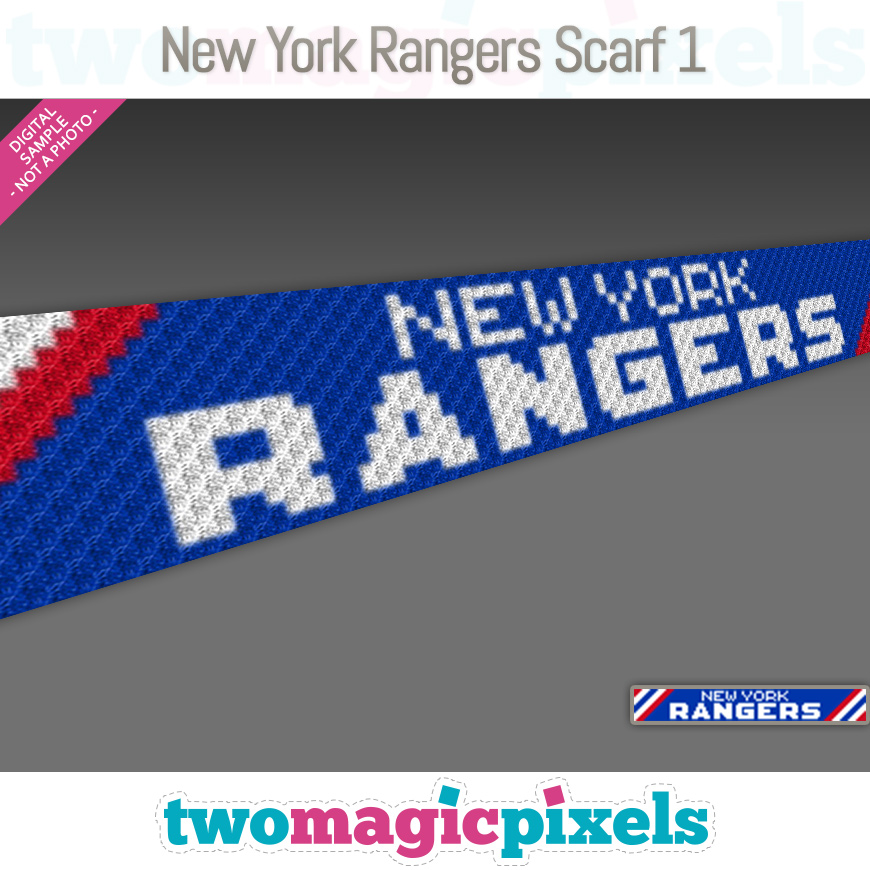 New York Rangers Scarf 1 by Two Magic Pixels