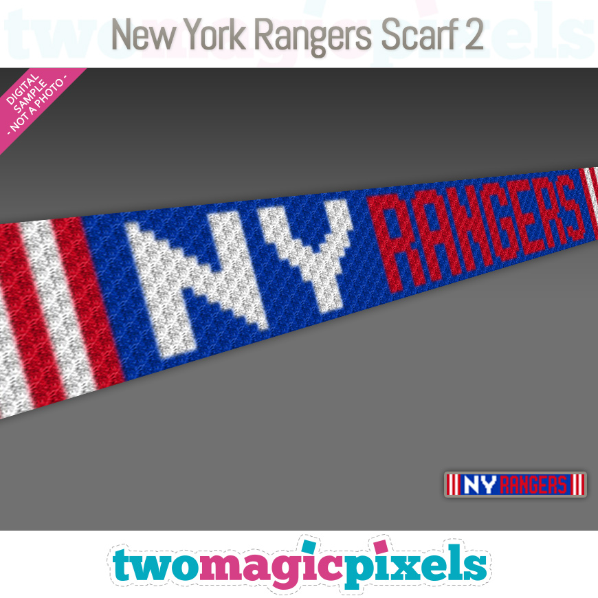 New York Rangers Scarf 2 by Two Magic Pixels