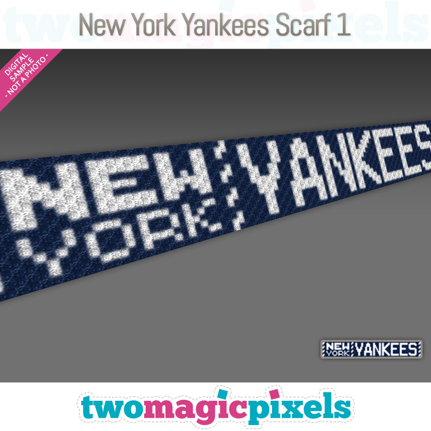 New York Yankees Scarf 1 by Two Magic Pixels