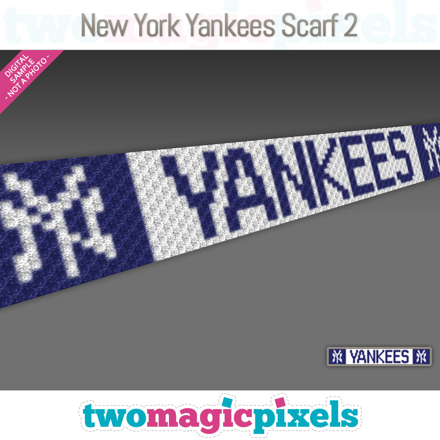 New York Yankees Scarf 2 by Two Magic Pixels