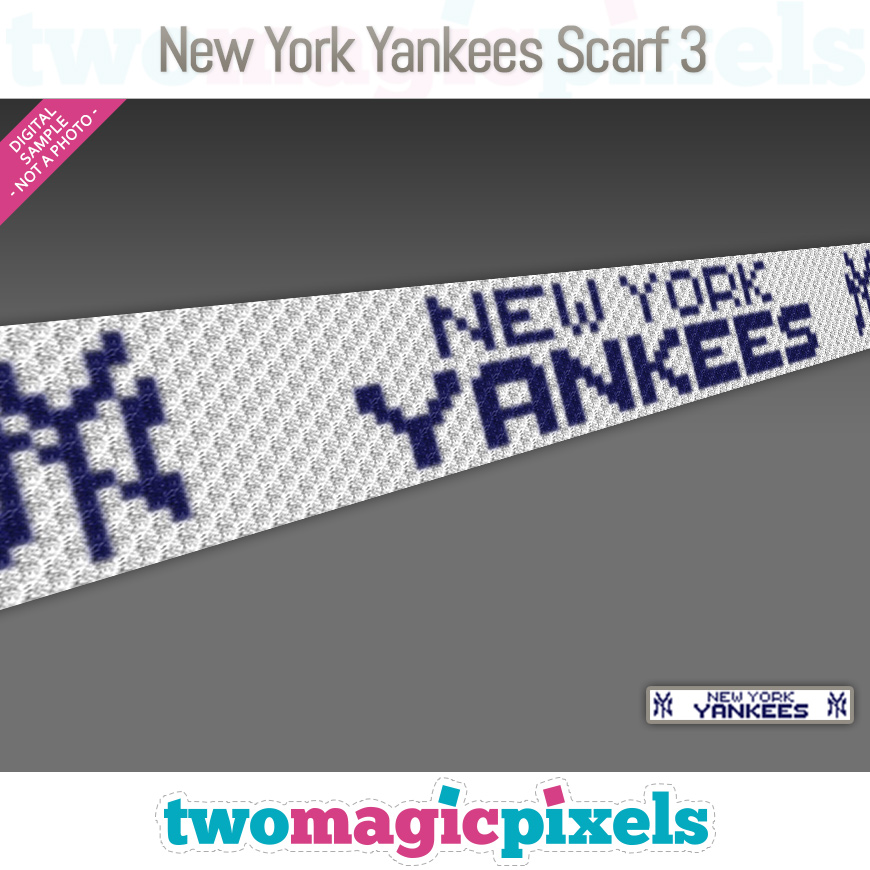 New York Yankees Scarf 3 by Two Magic Pixels