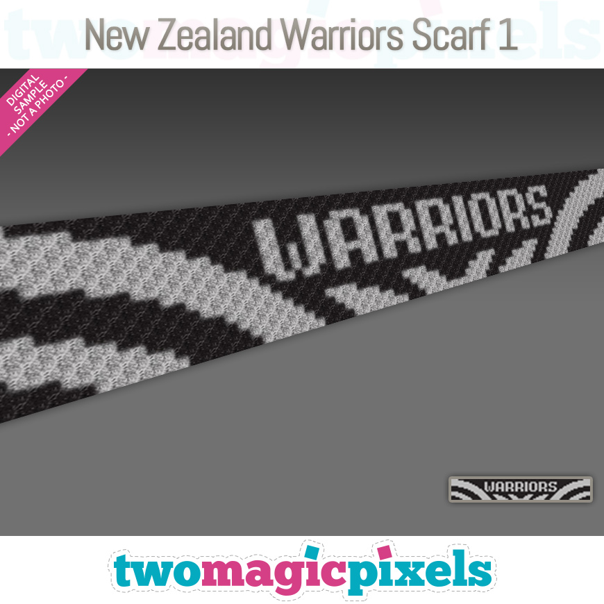 New Zealand Warriors Scarf 1 by Two Magic Pixels