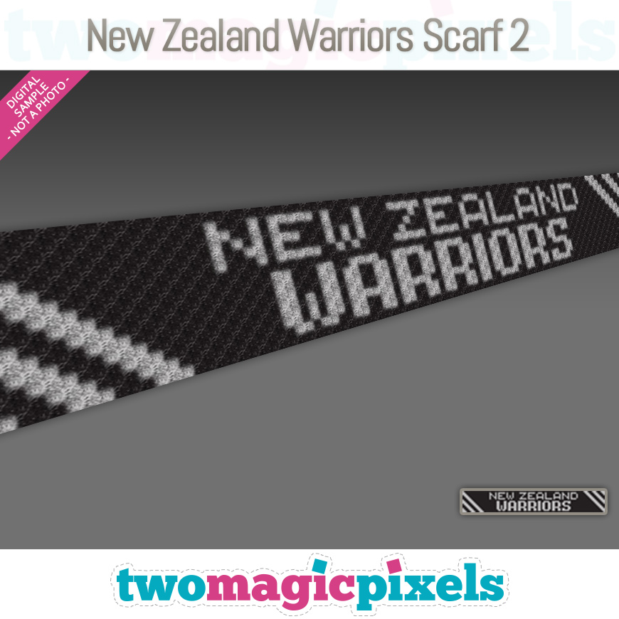 New Zealand Warriors Scarf 2 by Two Magic Pixels