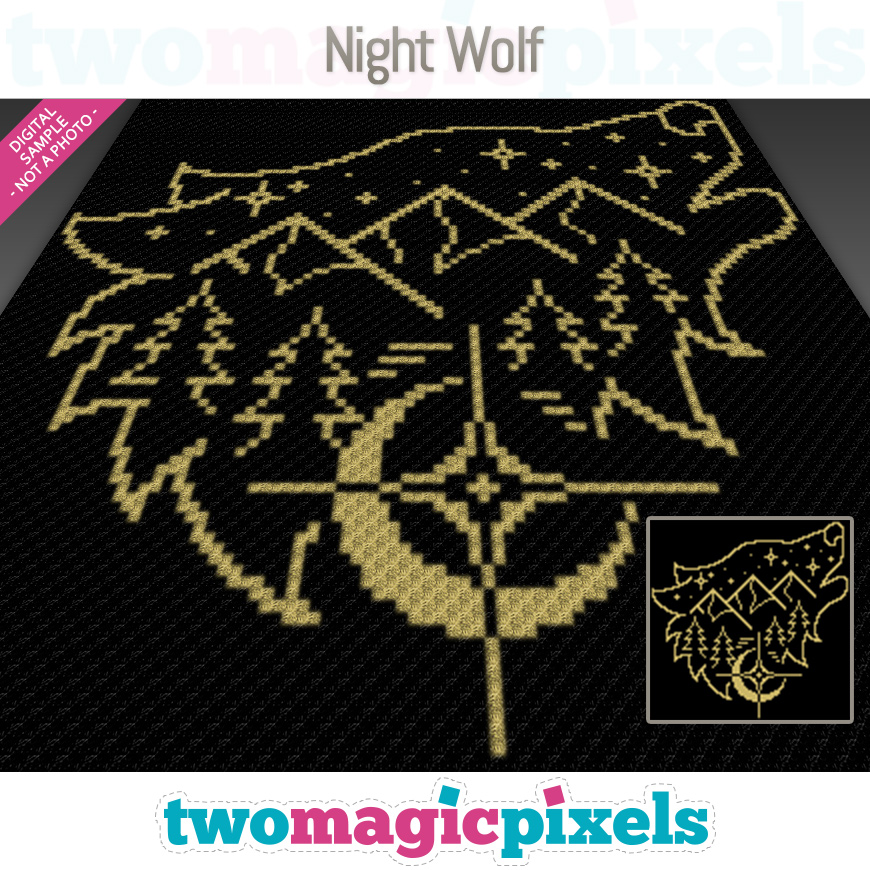 Night Wolf by Two Magic Pixels