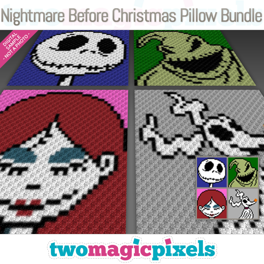 Nightmare Before Christmas Pillow Bundle by Two Magic Pixels