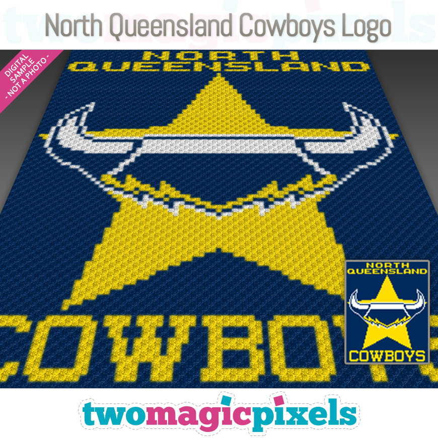 North Queensland Cowboys Logo by Two Magic Pixels