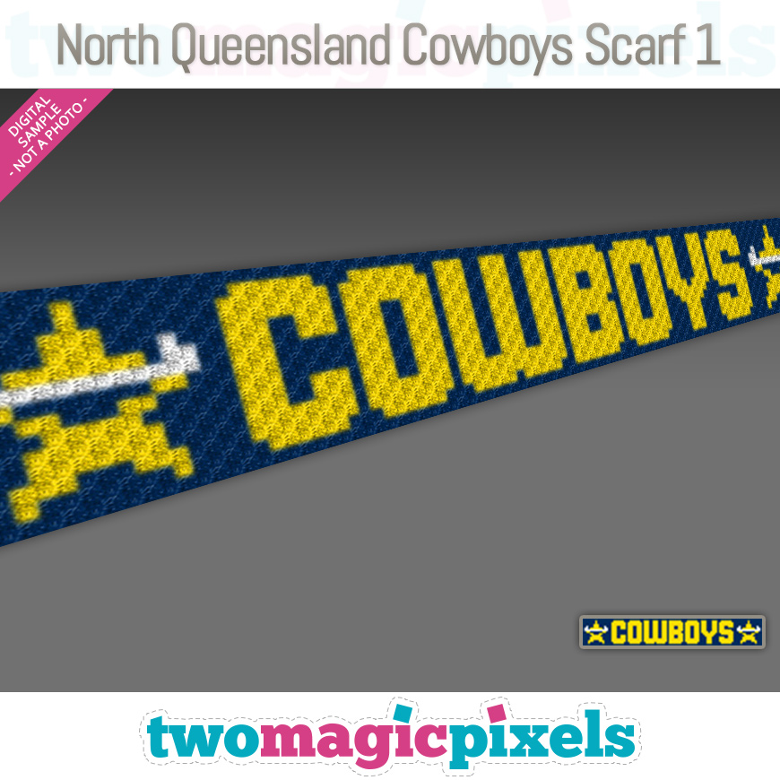 North Queensland Cowboys Scarf 1 by Two Magic Pixels