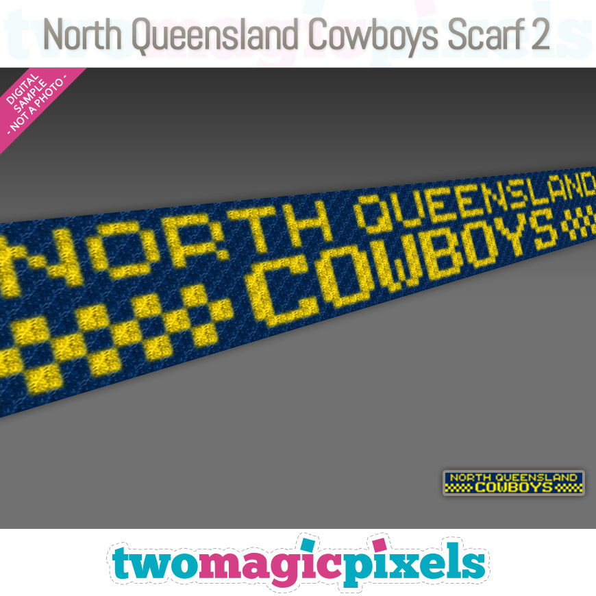 North Queensland Cowboys Scarf 2 by Two Magic Pixels