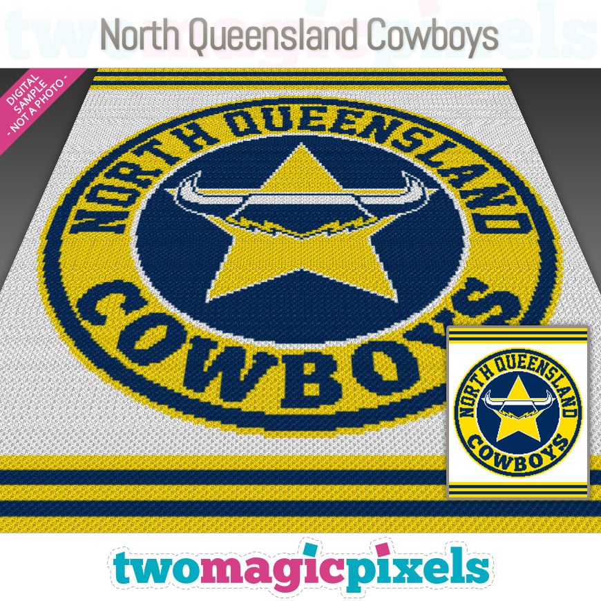 North Queensland Cowboys by Two Magic Pixels