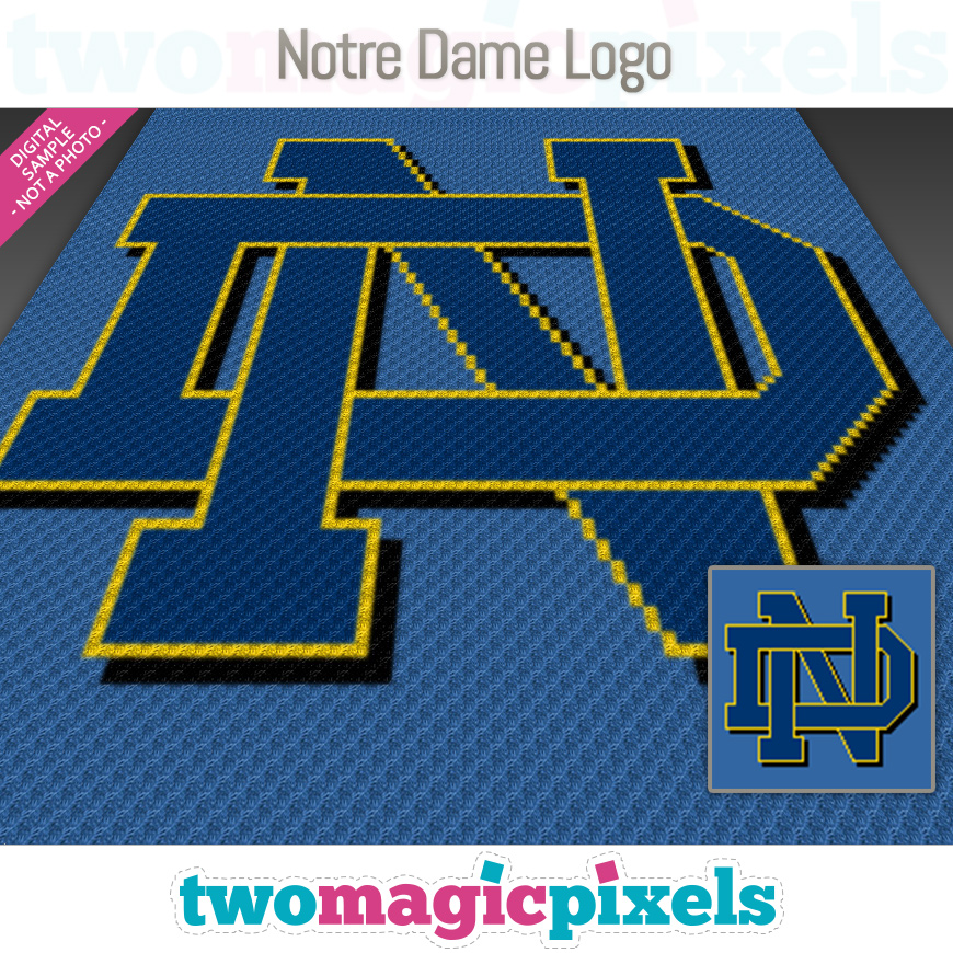 Notre Dame Logo by Two Magic Pixels