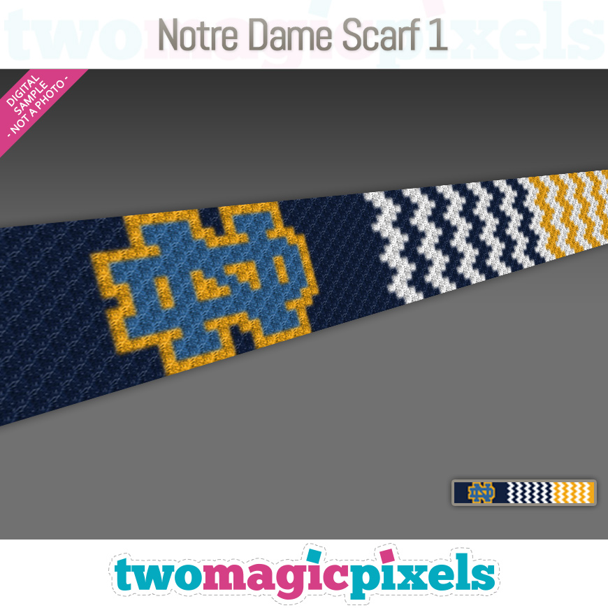 Notre Dame Scarf 1 by Two Magic Pixels