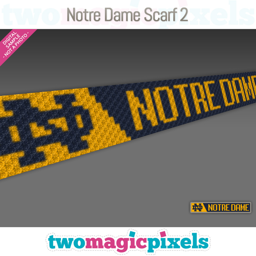 Notre Dame Scarf 2 by Two Magic Pixels