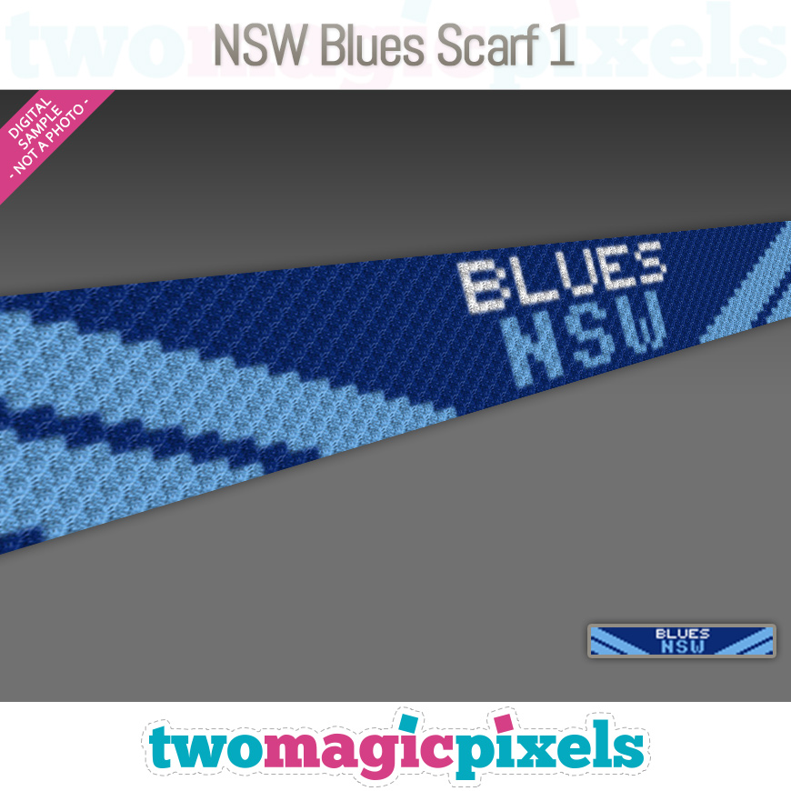 NSW Blues Scarf 1 by Two Magic Pixels