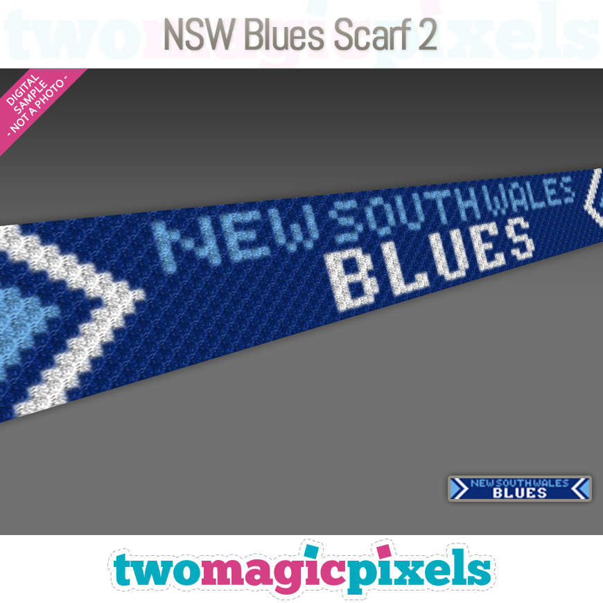 NSW Blues Scarf 2 by Two Magic Pixels