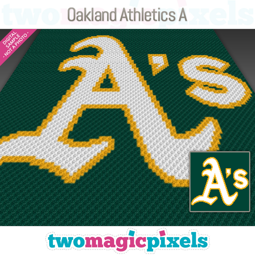 Oakland Athletics A by Two Magic Pixels