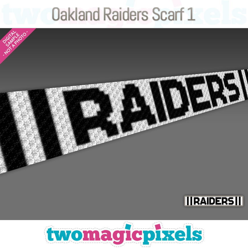 Oakland Raiders Scarf 1 by Two Magic Pixels