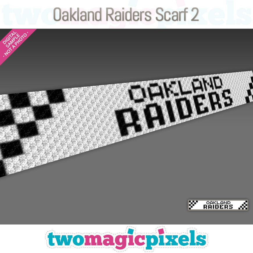Oakland Raiders Scarf 2 by Two Magic Pixels