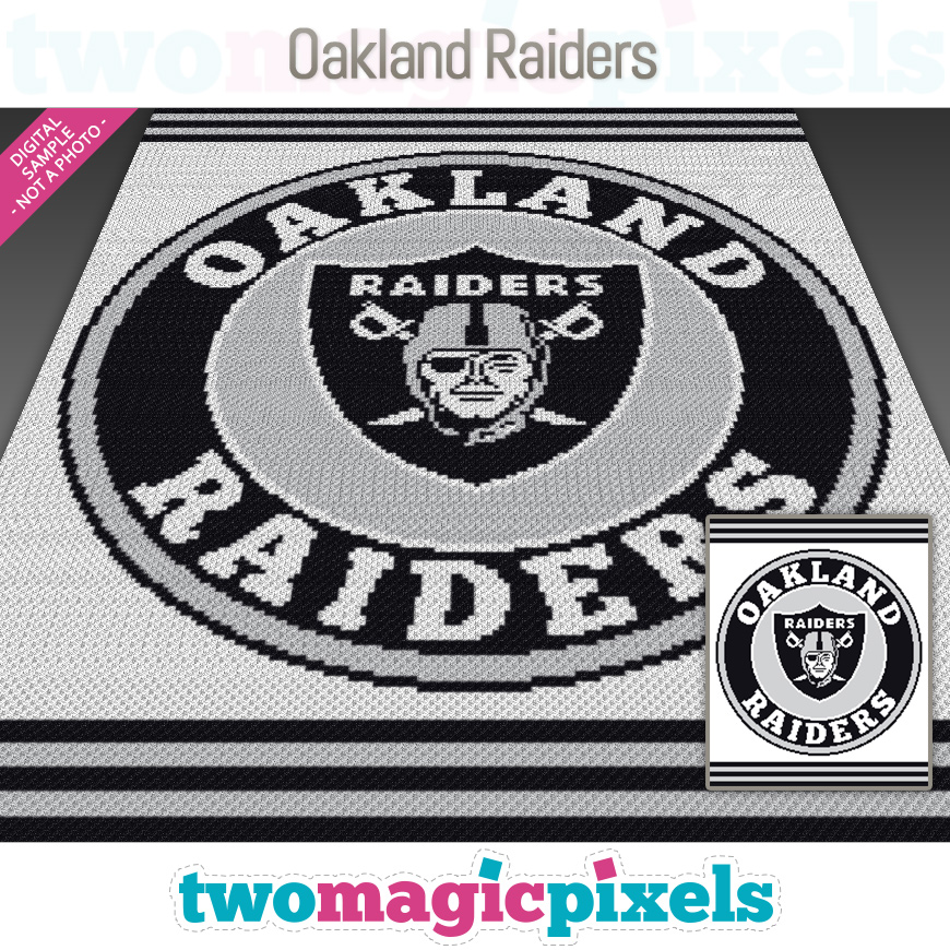 Oakland Raiders by Two Magic Pixels