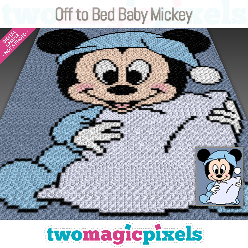 Off to Bed Baby Mickey by Two Magic Pixels