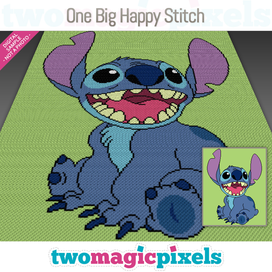 One Big Happy Stitch by Two Magic Pixels