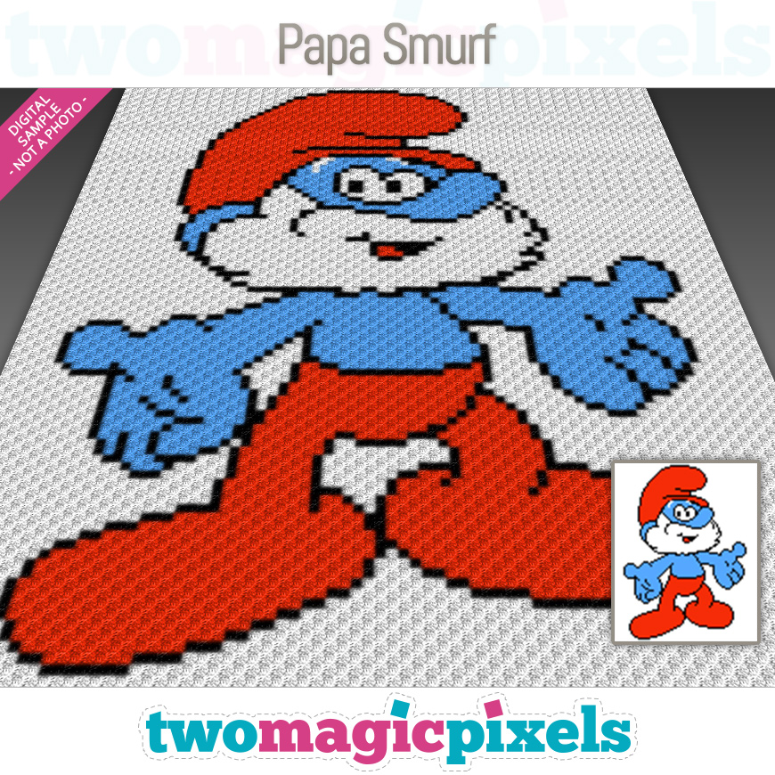 Papa Smurf by Two Magic Pixels