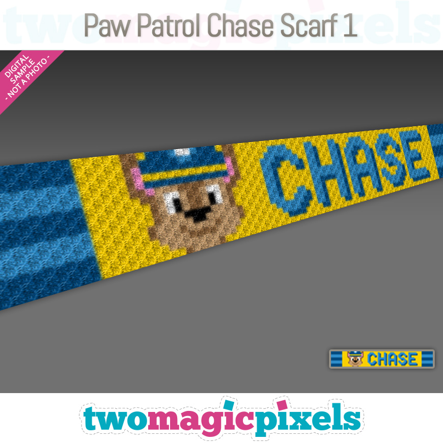 Paw Patrol Chase Scarf 1 by Two Magic Pixels