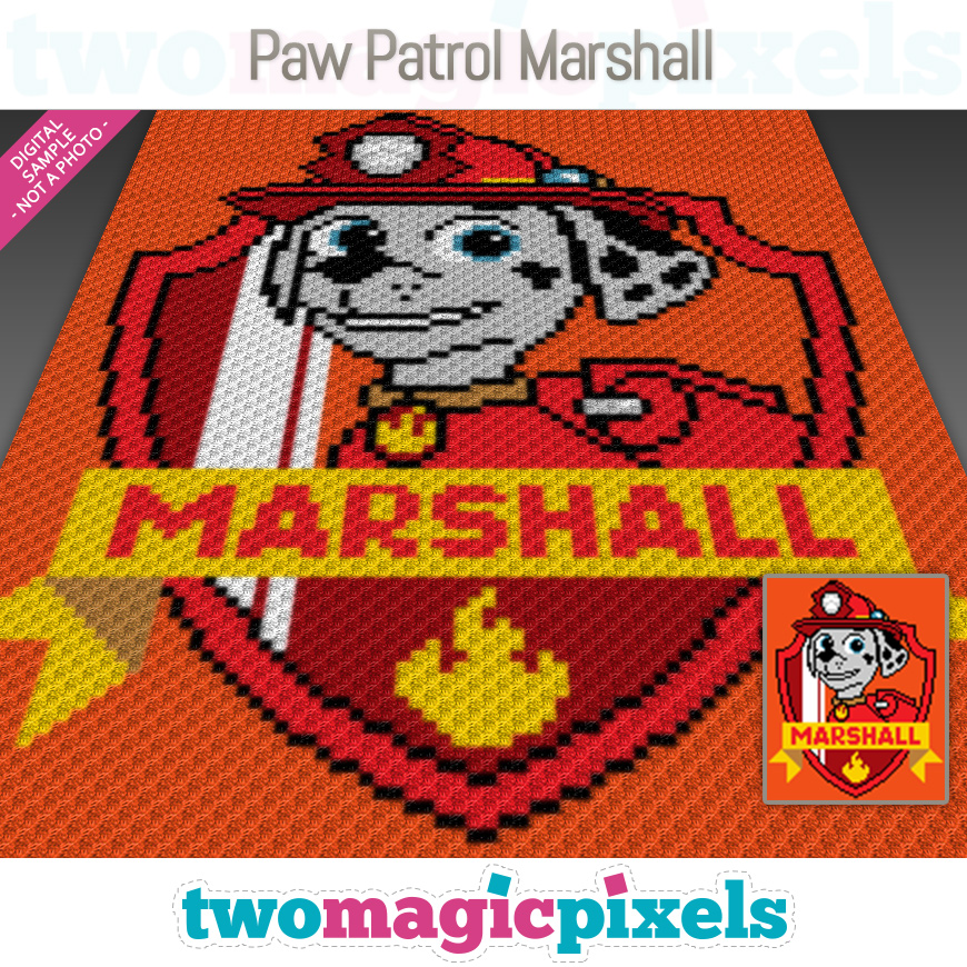 Paw Patrol Marshall by Two Magic Pixels