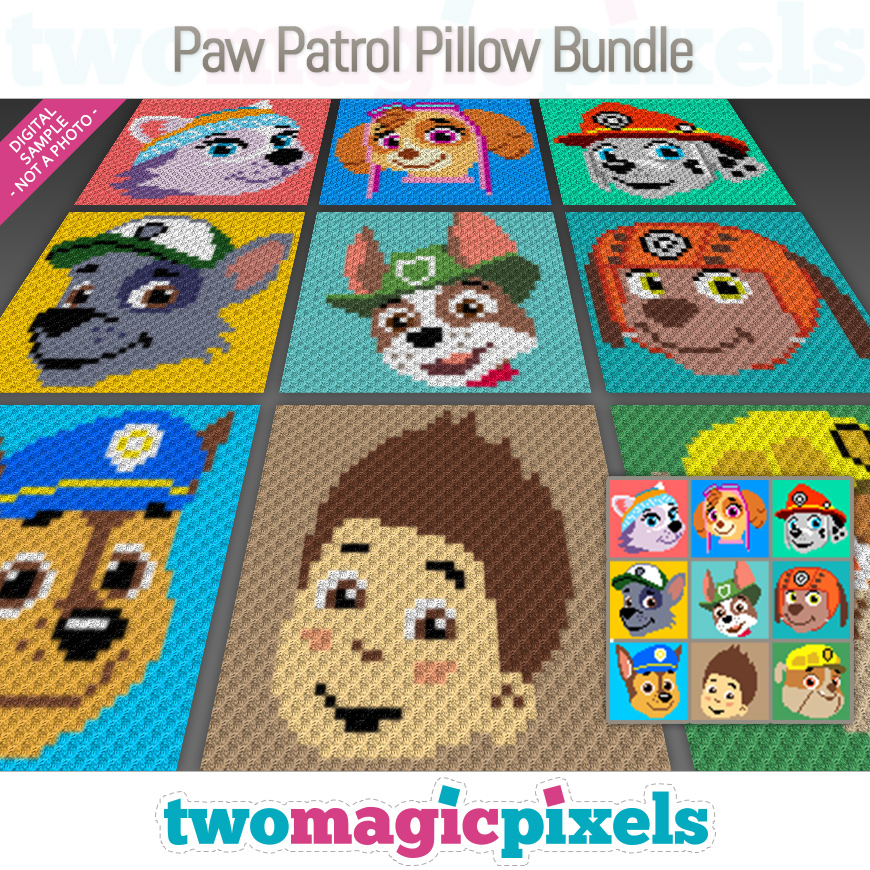 Paw Patrol Pillow Bundle by Two Magic Pixels