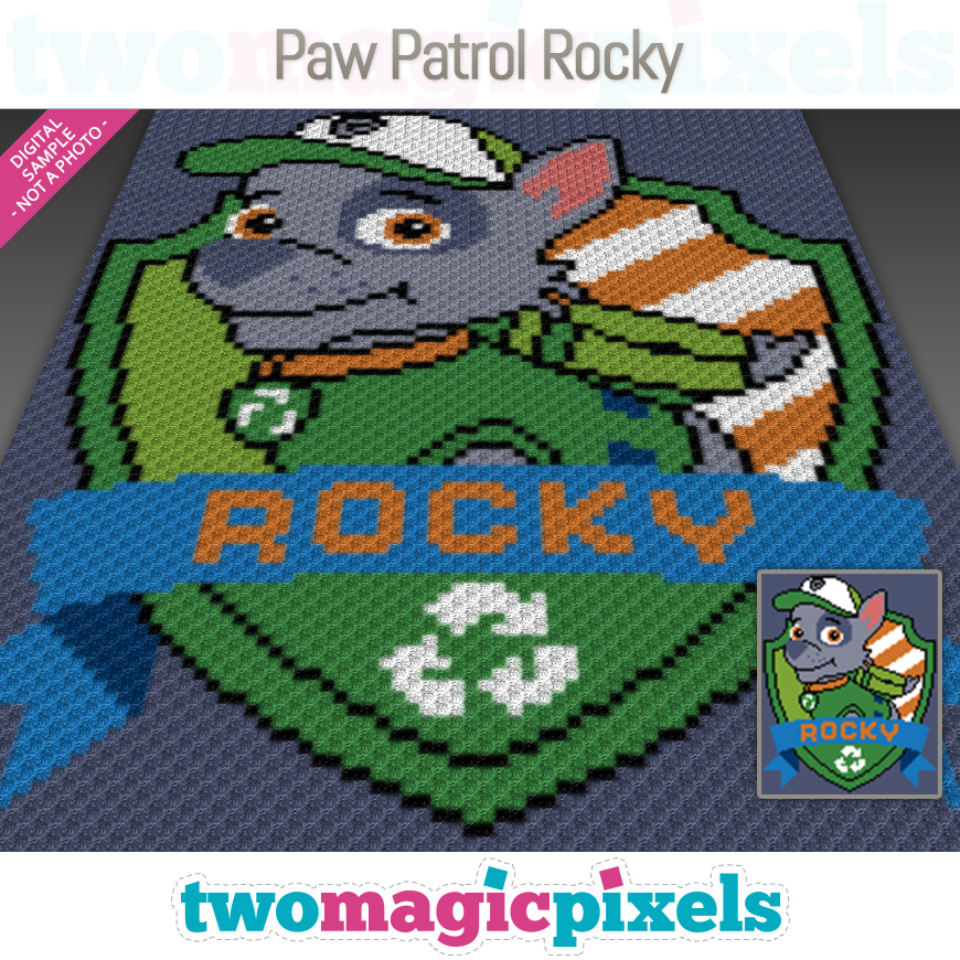 Paw Patrol Rocky by Two Magic Pixels