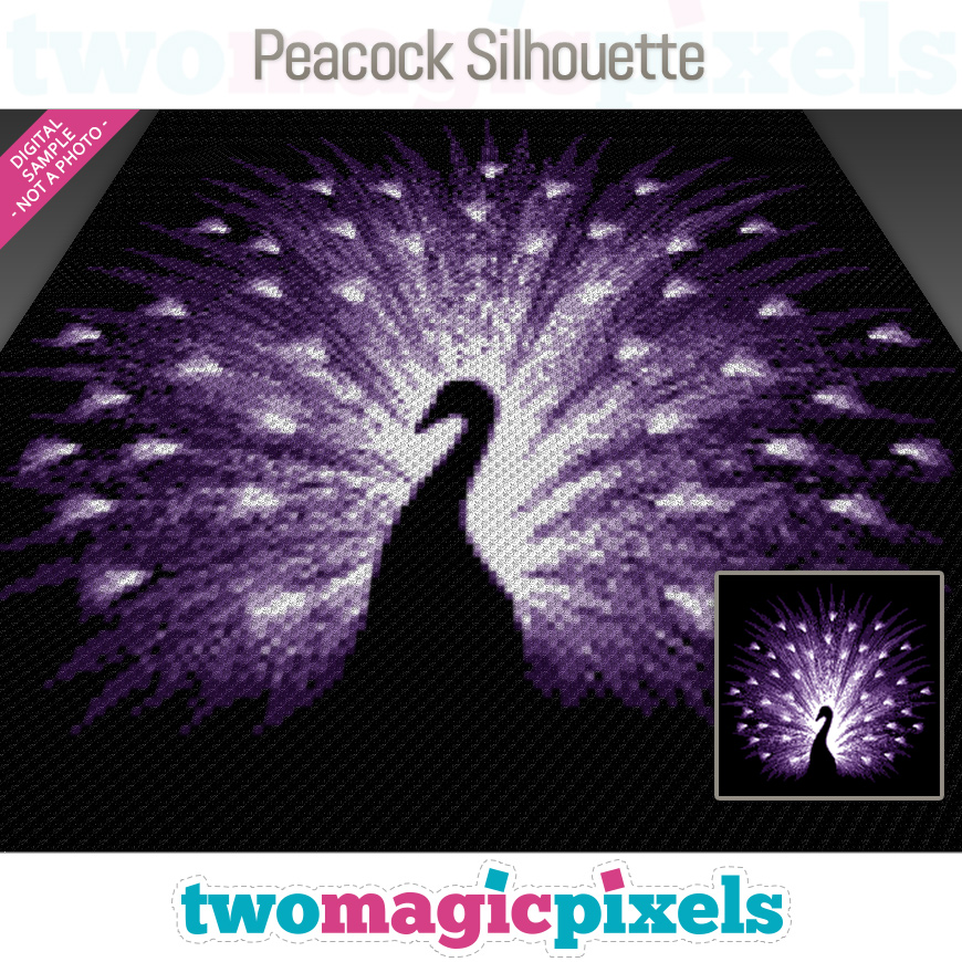 Peacock Silhouette by Two Magic Pixels